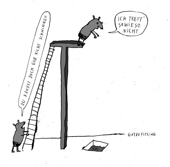 Schweine Am Sprungturm