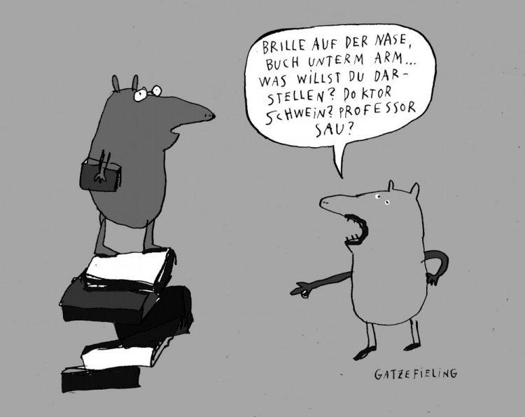 Das Schwein in der Bibo (=Stall)